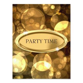 Special Event Elegant Black & Gold Bubbles 11 Cm X 14 Cm Invitation Card