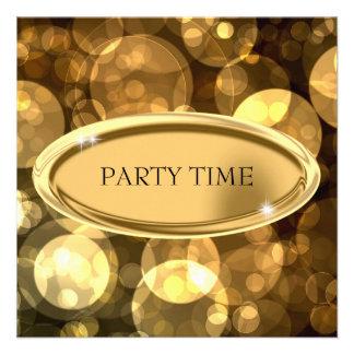 Special Event Elegant Black & Gold Bubbles 2 Invitations