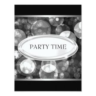 """Special Event Elegant Black & Grey Bubbles 4.25"""" X 5.5"""" Invitation Card"""