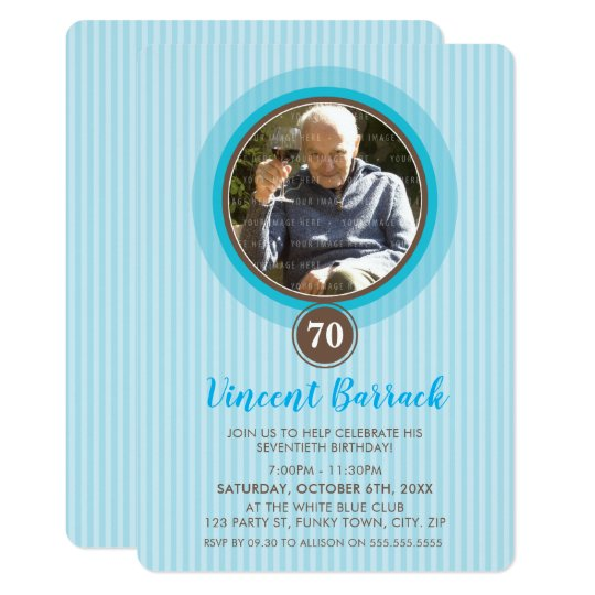 SPECIAL EVENT INVITES lovely photo spot blue