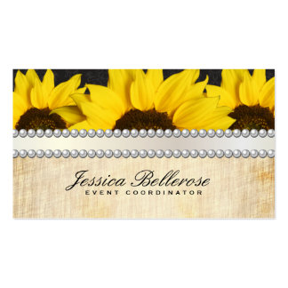 Special Events   Vintage, Sunflowers Pack Of Standard Business Cards