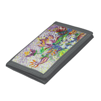 Special Flower Art Grey Wallet