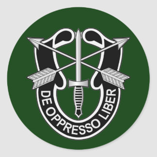 Special Forces DUI - de oppresso liber Classic Round Sticker