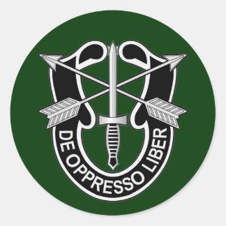 Special Forces DUI - de oppresso liber Classic Round Sticker