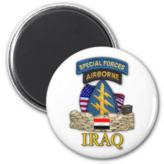 special forces green berets iraq war veterans Magn 6 Cm Round Magnet