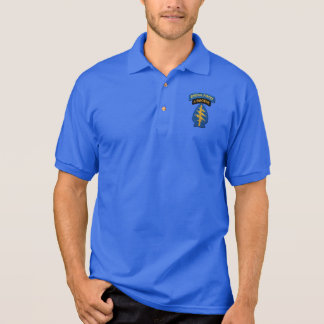 Special Forces Green Berets Rangers LRRPS Patch Polo Shirt