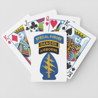 Special Forces Group Green Berets SF SOF SFG SOC Bicycle Playing Cards