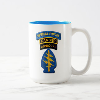 Special Forces Groups Green Berets Rangers Vets Two-Tone Coffee Mug
