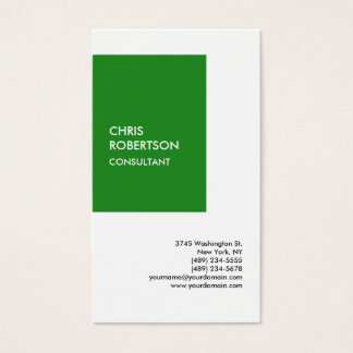 Special Forest Vivid Green White Modern Unique Business Card