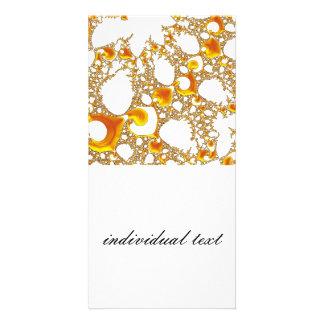special fractal 04 orange customized photo card
