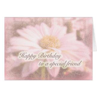 Special Friend Birthday - Gerbera Daisy Card