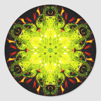 Special Frog Effect Mandala Round Sticker