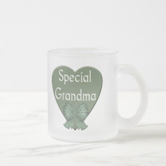 Special Grandma T-shirts and Gifts Frosted Glass Mug