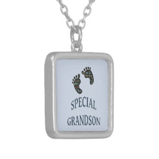 Special Grandson Silver Plated Necklace