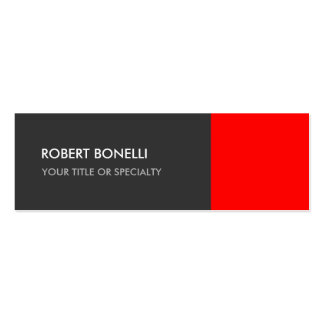Special Grey Red Unique Elegant Standard Double-Sided Mini Business Cards (Pack Of 20)