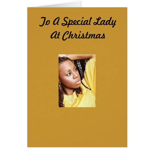 Special Lady Christmas Card