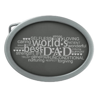 special message gift for 'best dad' Belt Buckle