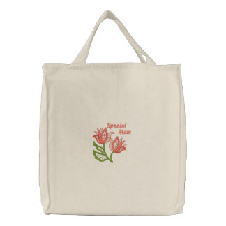 Special Mom Tote - Floral Openwork Embroidered Tote Bags