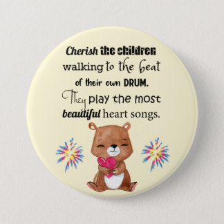 Special Needs Kids Inspirational, Heart Songs 7.5 Cm Round Badge
