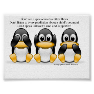 Special Needs Penguin Poster