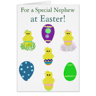 Special Nephew Easter Eggs Card