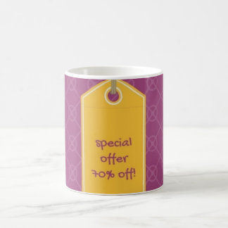 special offer purple and yellow mug 70% off