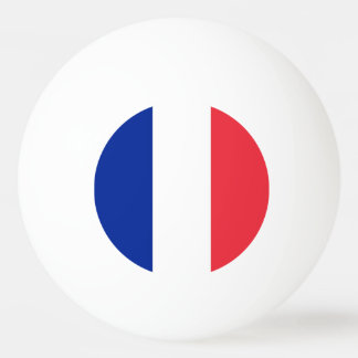 Special ping pong ball with Flag of France