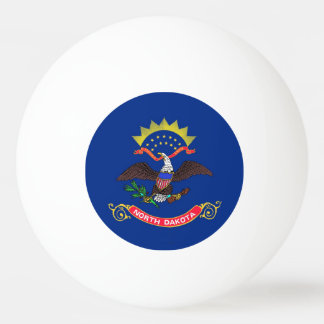 Special ping pong ball with Flag of North Dakota