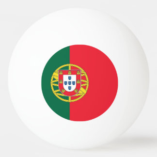 Special ping pong ball with Flag of Portugal