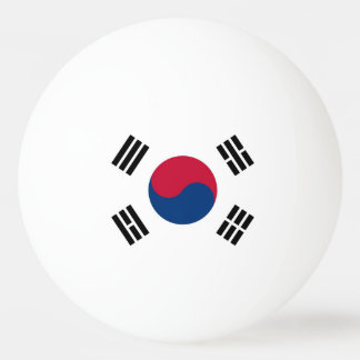 Special ping pong ball with Flag of South Korea