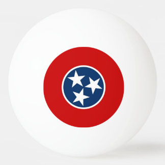 Special ping pong ball with Flag of Tennessee