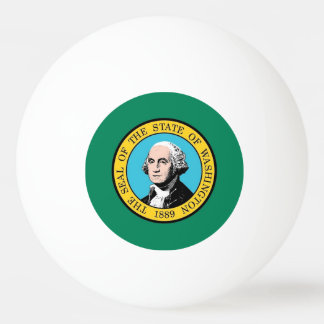 Special ping pong ball with Flag of Washington USA