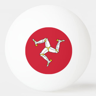 Special ping pong ball with Isle of Man Flag