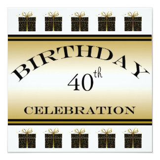 Special Presents 40th Birthday Party Invitations