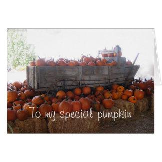 Special Pumpkin Greeting Card