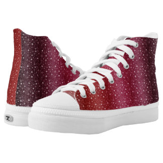 Special Red Custom Zipz High Top Shoes