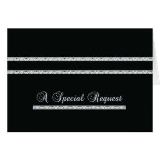 Special Request - Formal - Black and silver Greeting Card