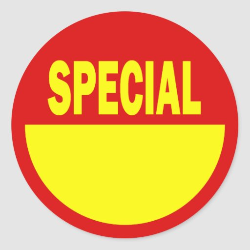 Special Retail Sales Stickers