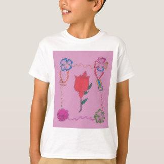 Special Rose Tile Art Graphic Design T-shirt
