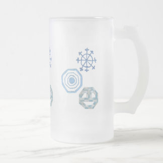 Special Snowflake Frosted Jug Frosted Glass Beer Mug