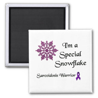 Special Snowflake Sarcoidosis Warrior Square Magnet