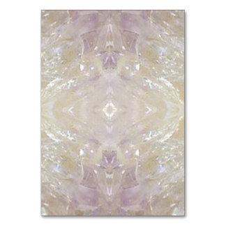 SPECIAL TABLE CARD Artist created Crystal shades