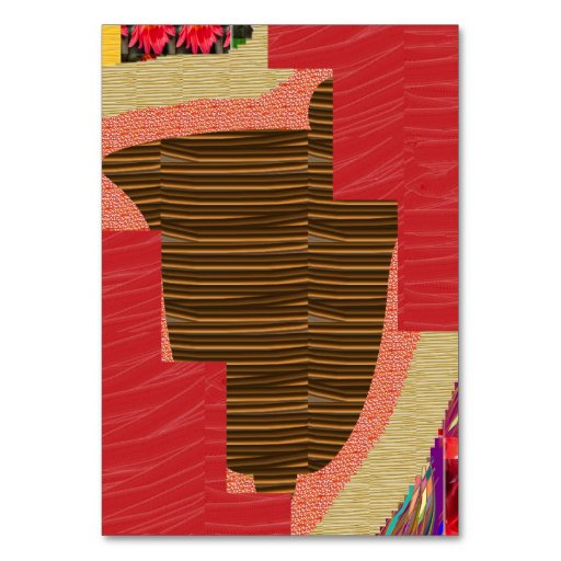 SPECIAL TABLE CARD Artist created SHADES N PATTERN