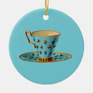 Special Tea Party Ceramic Ornament
