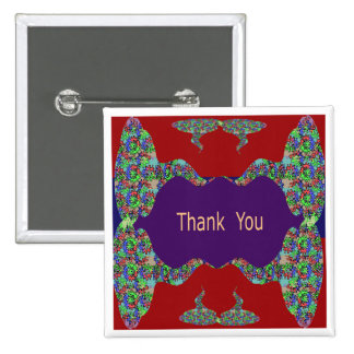 Special Thank You -  Oriental Lips 15 Cm Square Badge