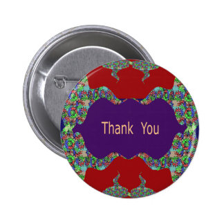 Special Thank You -  Oriental Lips 6 Cm Round Badge