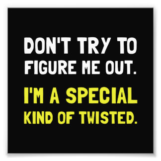 Special Twisted Photographic Print