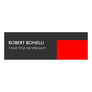 Special Unique Grey Red Elegant Modern Pack Of Skinny Business Cards