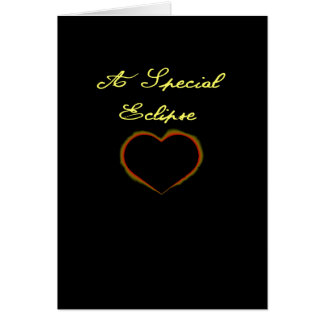 Special Wedding Anniversary on Eclipse Day Card
