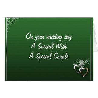 SPECIAL WISH SPECIAL WEDDING COUPLE CARDS